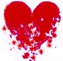 coração estraçalhado